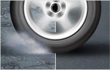 Dependable dry and wet handling and braking